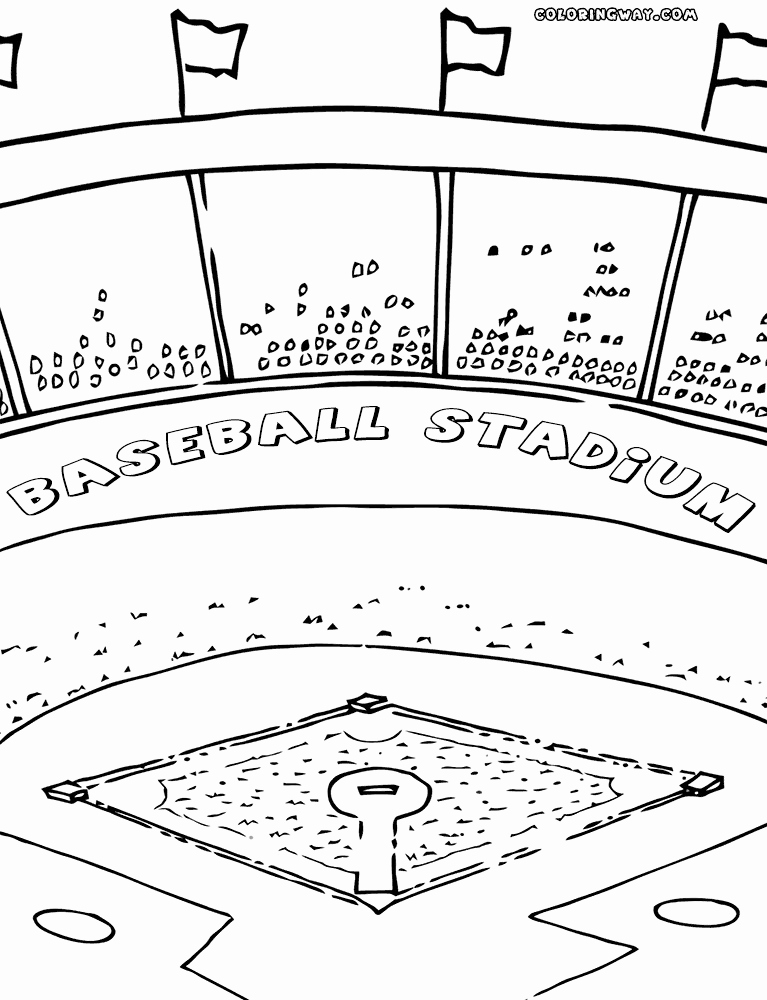 767x1000 Baseball Field Coloring Pages