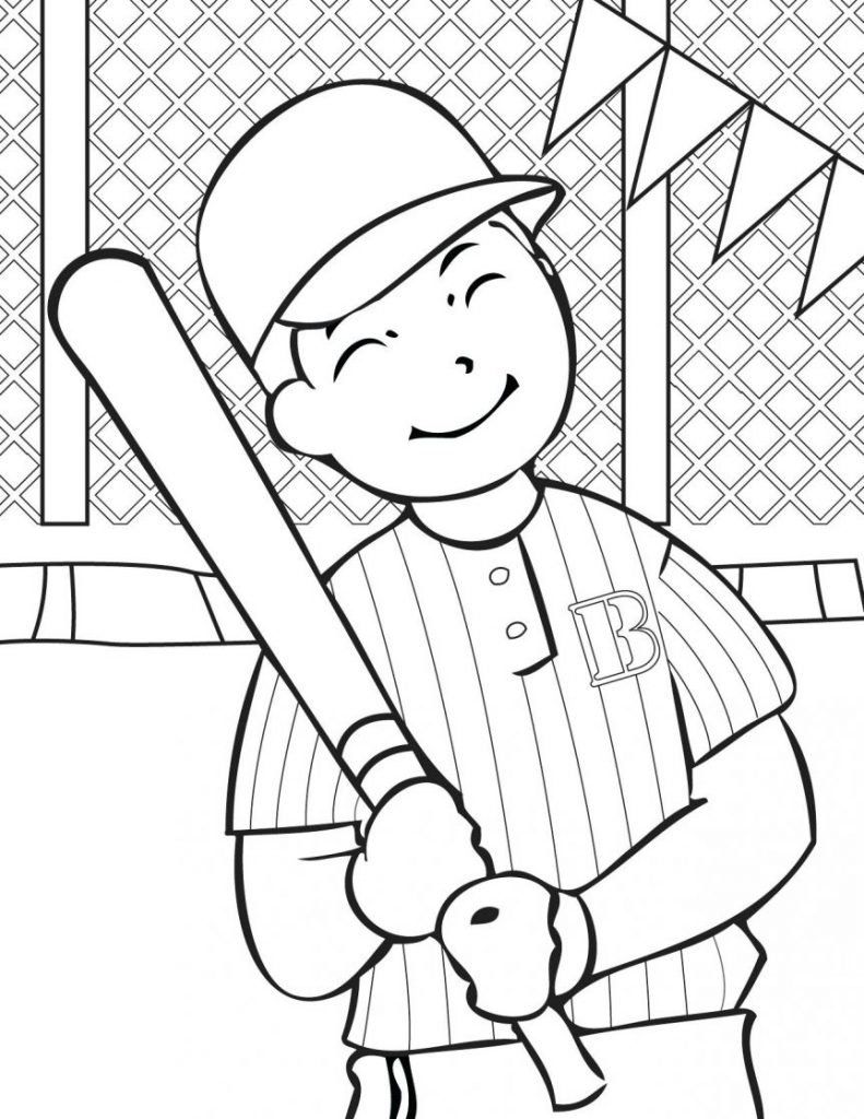 791x1024 Baseball Field Coloring Pages Deeptown Club