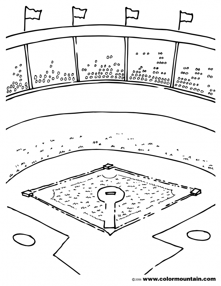 741x960 Baseball Field Coloring Pages Baseball Field Coloring Pages