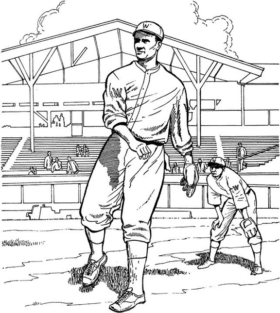 576x645 Baseball Field Coloring Pages Printable Color Bros