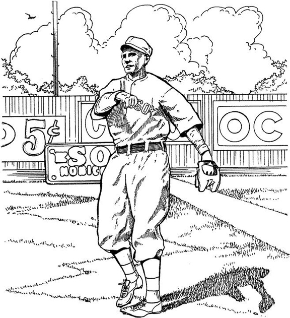 576x631 Red Sox Outfielder Baseball Coloring Page Purple Kitty On Baseball