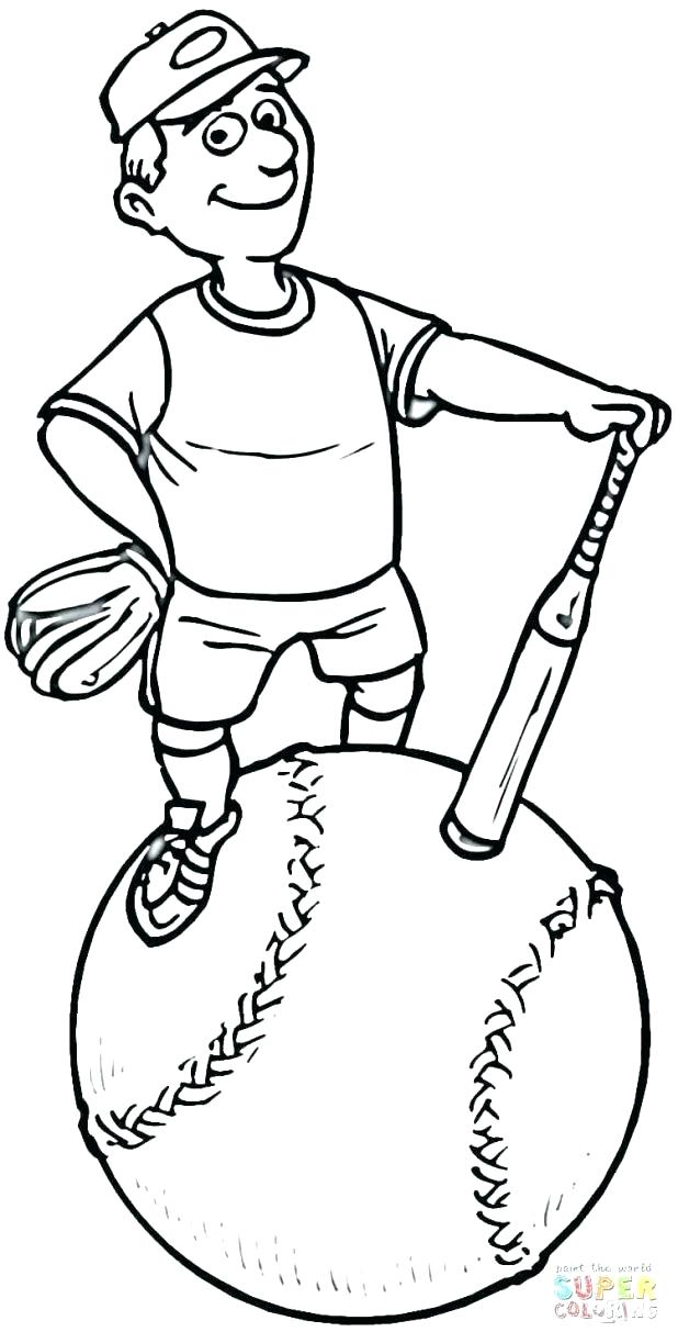 618x1223 Softball Coloring Page Girls Of Pics Softball Coloring Pages