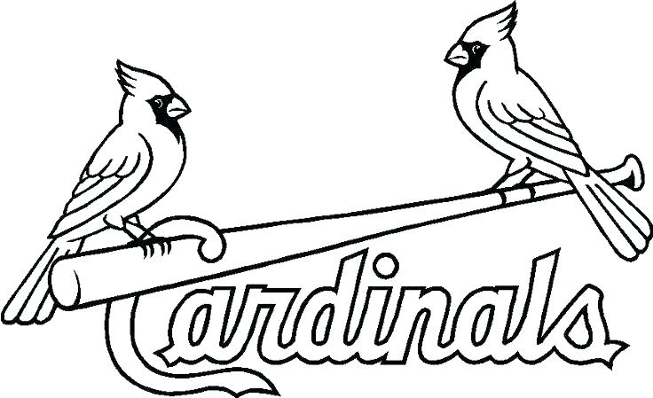 736x449 Mlb Baseball Helmet Coloring Pages St Cardinals Free Cardinal Page