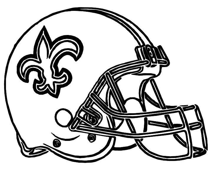 739x612 Saints Helmet Coloring Pages
