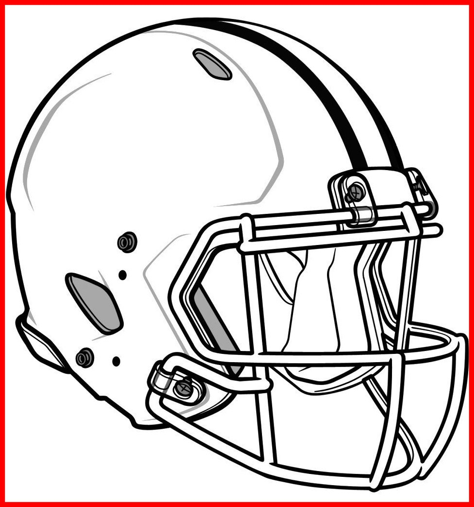 977x1043 Shocking Football Helmet Coloring Page U Imagixs Pict For Trend