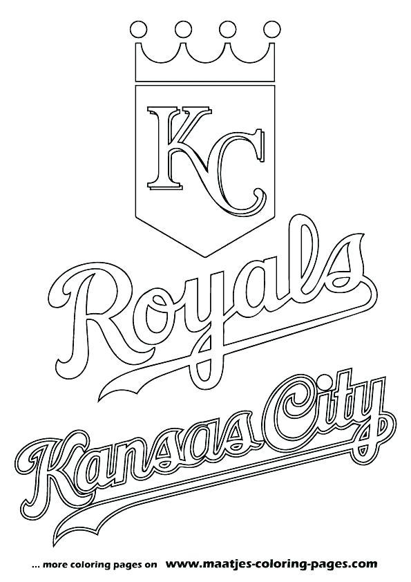 595x842 Coloring Baseball Coloring Pages Mlb Royals Sheets Mascot