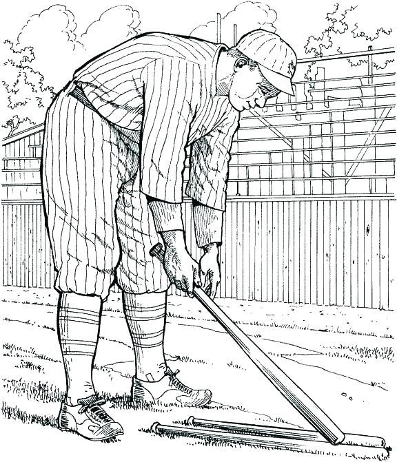 576x671 Baseball Coloring Pages Fire Baseball Coloring Page Mlb Baseball