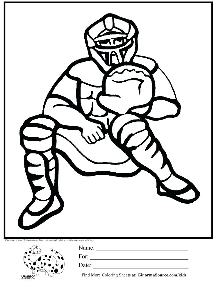 736x977 Baseball Coloring Pages Mlb Baseball Coloring Pages Catcher Is