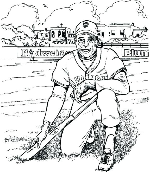 576x661 Baseball Coloring Pages Mlb Coloring Pages Baseball Giants Player