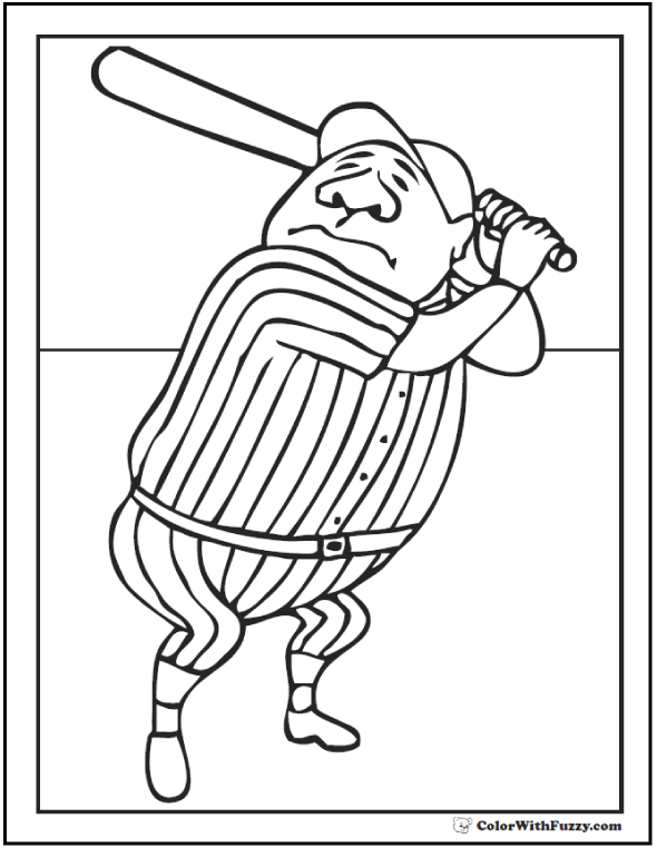 Baseball Jersey Coloring Page