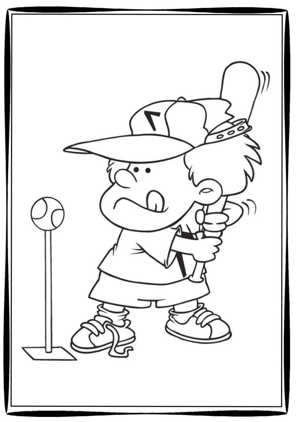 1024x1449 Coloring Pages Of Baseball Coloring Pages Kids