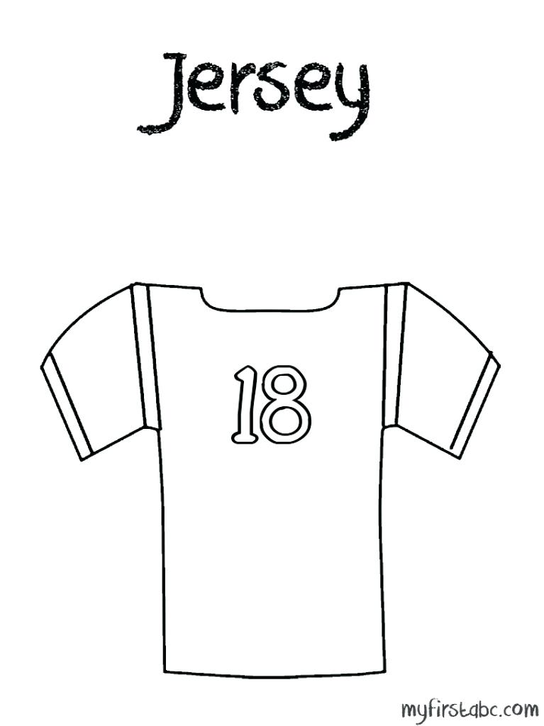 767x1024 Football Jersey Coloring Page Football Jersey Colouring Pages Page