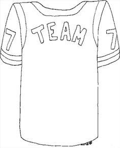 236x292 Football Jerseys For Kids To Print Football Jersey Template