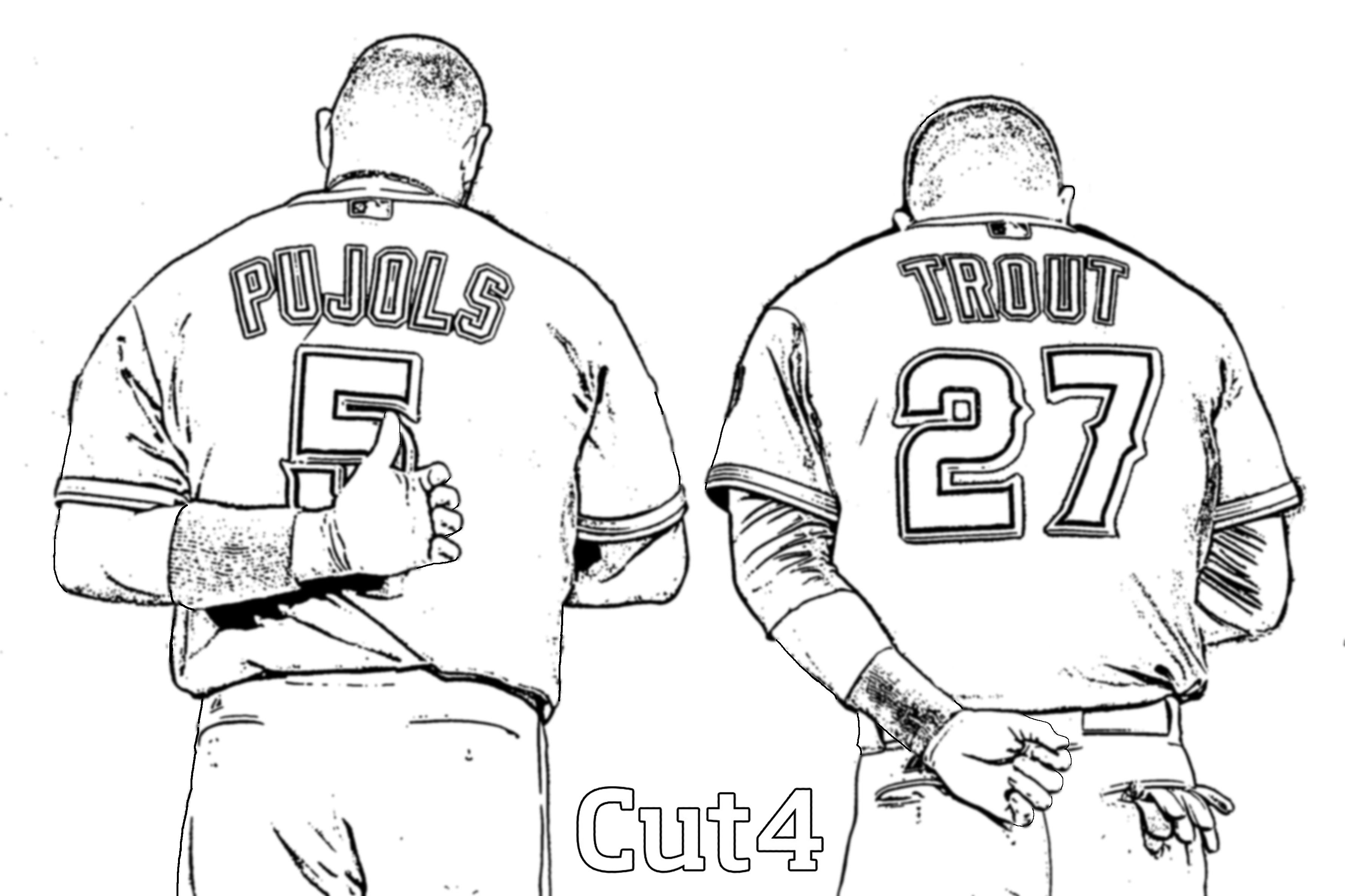 3566x2377 Baseball Jerseys Coloring Pages