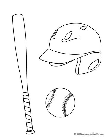 364x470 Baseball Equipment Coloring Pages