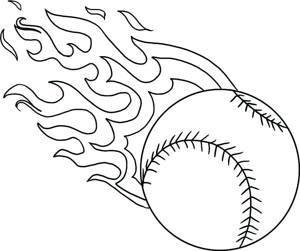 600x501 Mlb Logo Coloring Pages Baseball Coloring Pages Photograph Fire