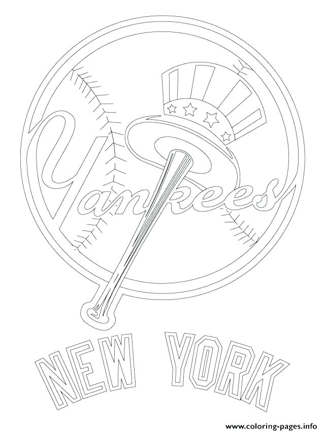 640x853 Baseball Team Coloring Pages