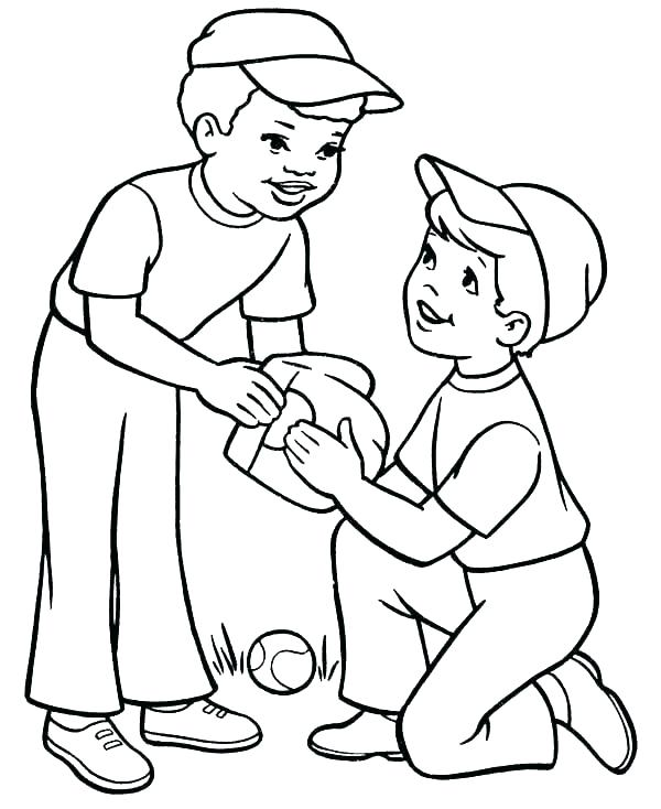 600x734 Baseball Glove Coloring Page Baseball Glove And Ball Coloring Page