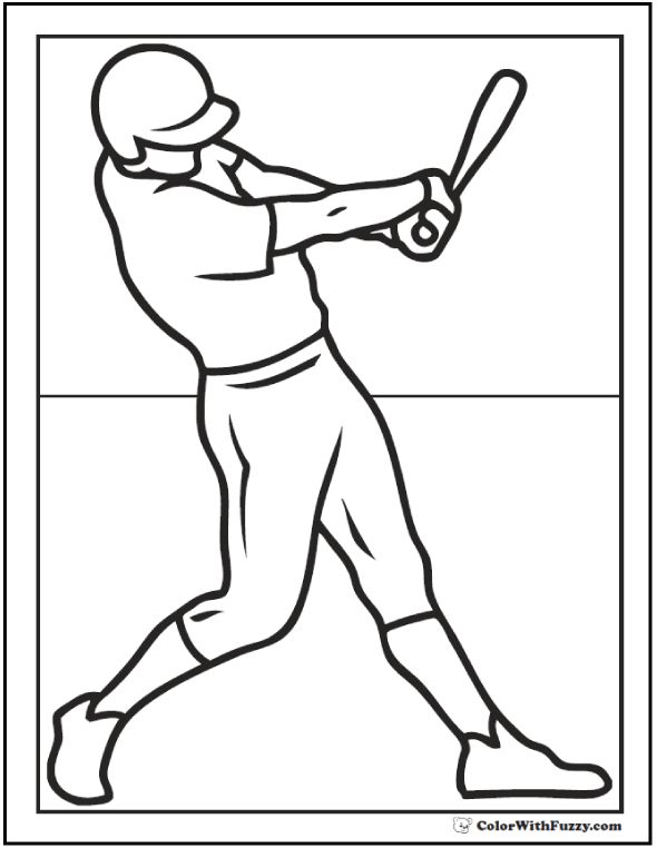 590x762 Baseball Player Coloring In Baseball Player Coloring Pages