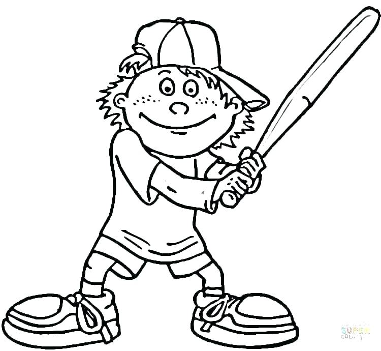 750x690 Baseball Player Coloring Page Free Coloring Pages Baseball