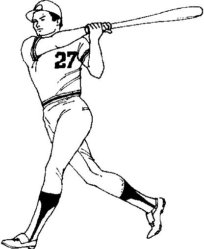 416x508 Baseball Player Coloring Pages