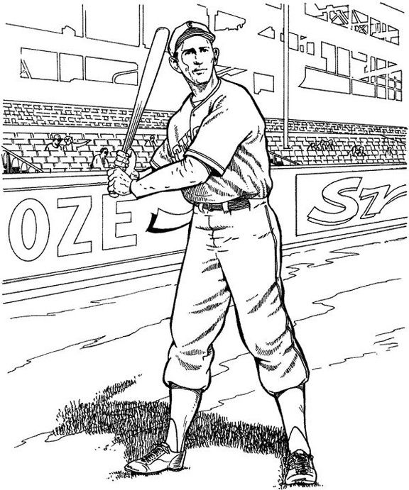 576x691 Baseball Players Coloring Pages Diy Adult Coloring