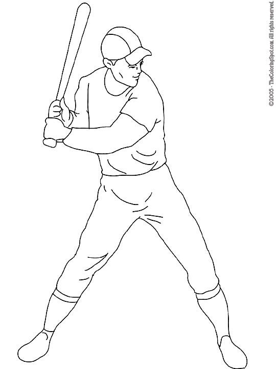 540x720 Baseball Player Coloring Pages