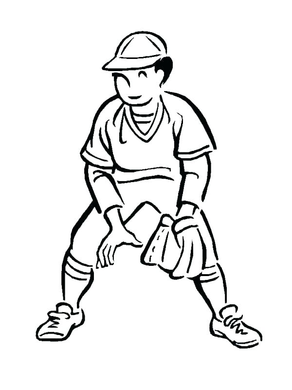 600x801 Coloring Pages Baseball Girl Playing Baseball Coloring Pages