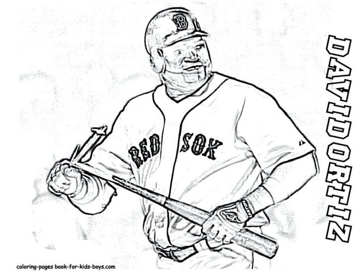 728x562 Coloring Pages Online Mike Trout Logo Major League Baseball Player