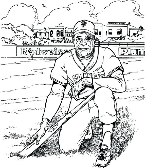 576x661 Derek Jeter Coloring Pages Baseball Player Coloring Page Free