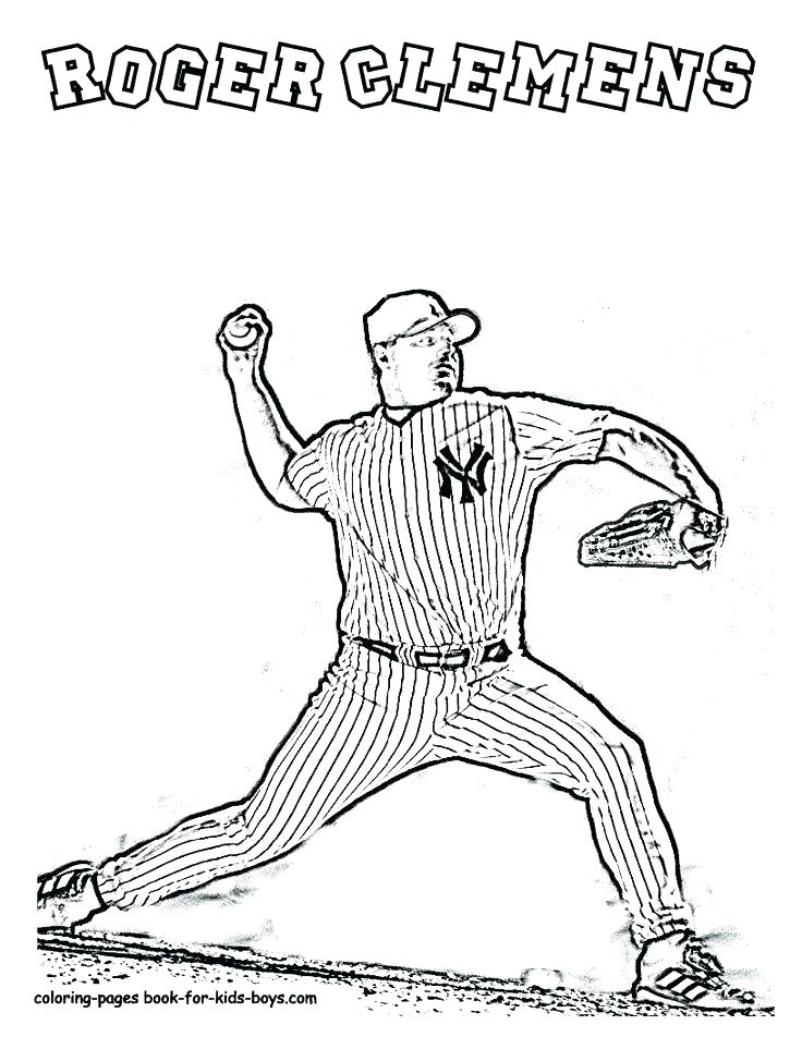736x952 Derek Jeter Coloring Pages Coloring Pages Roger Baseball Player