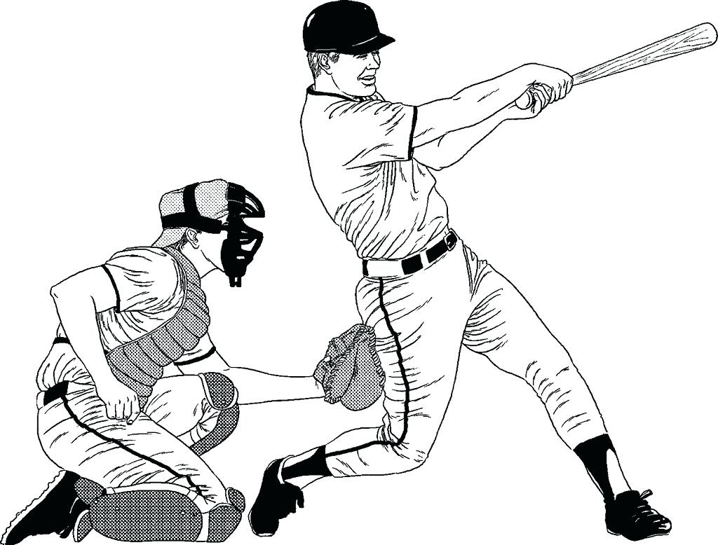 1024x778 Major League Baseball Player Coloring Page Pages For Adults