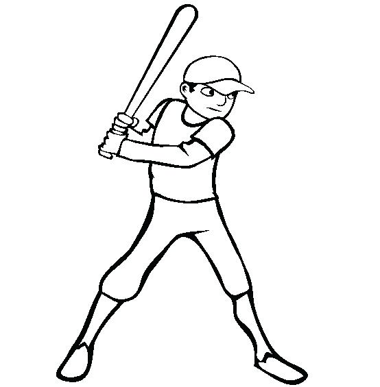 554x565 Baseball Field Coloring Page