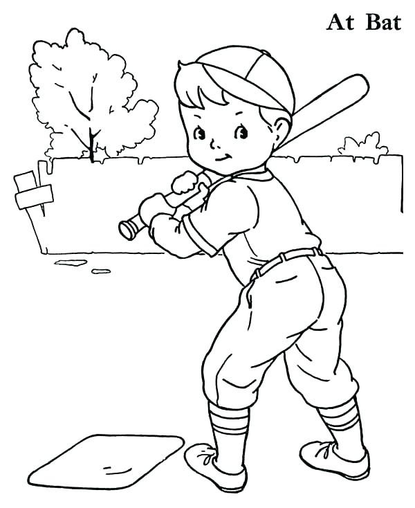 600x734 Baseball Color Pages With Baseball Color Pages Boy Baseball Player