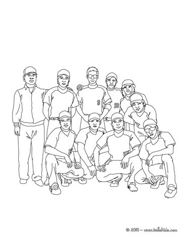 364x470 Baseball Team Coloring Pages