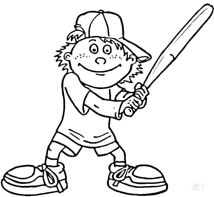 750x690 Free Baseball Coloring Pages Printable Baseball Coloring Pages