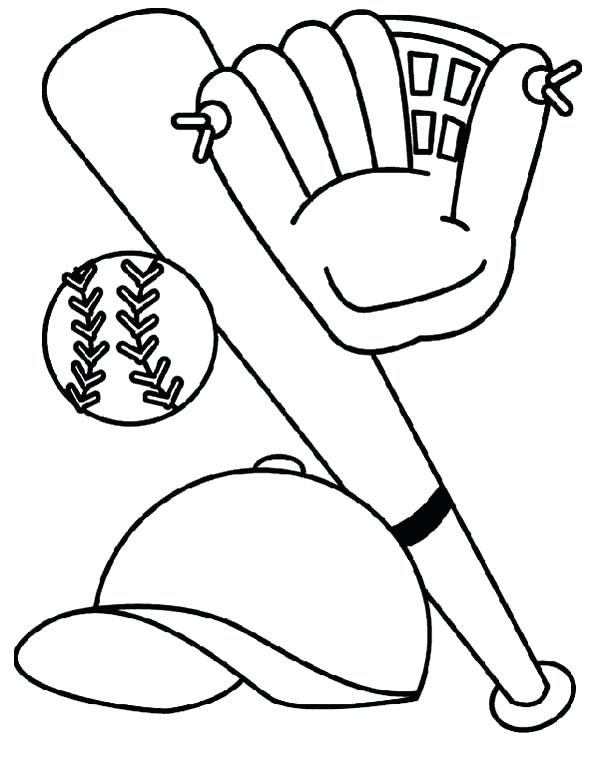 600x761 Baseball Coloring Pages