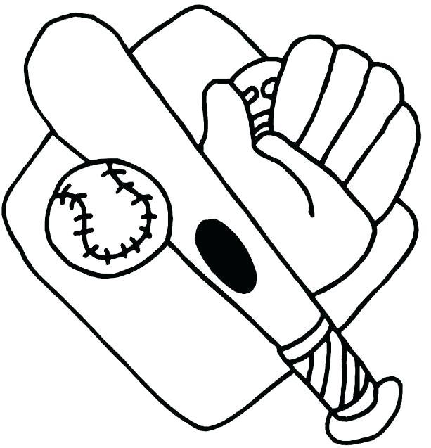 613x637 Baseball Coloring Pages Baseball Coloring Picture Baseball Bat
