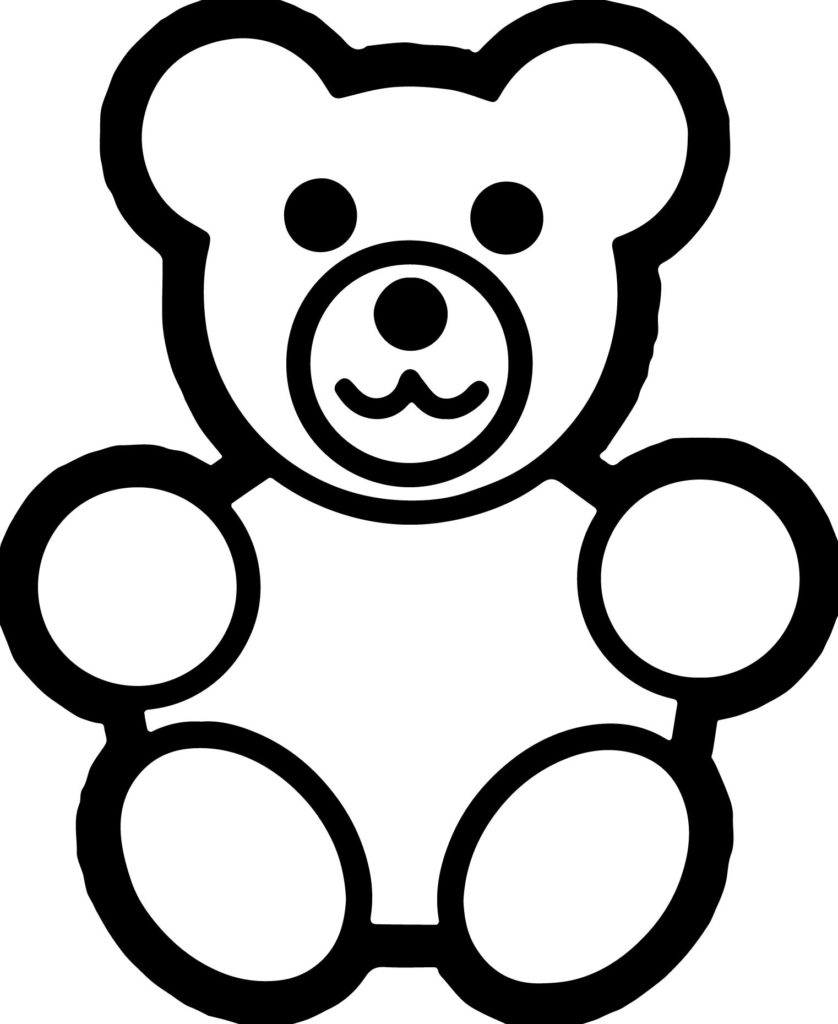 838x1024 Basic Preschool Bear Coloring Page Wecoloringpage At Pages