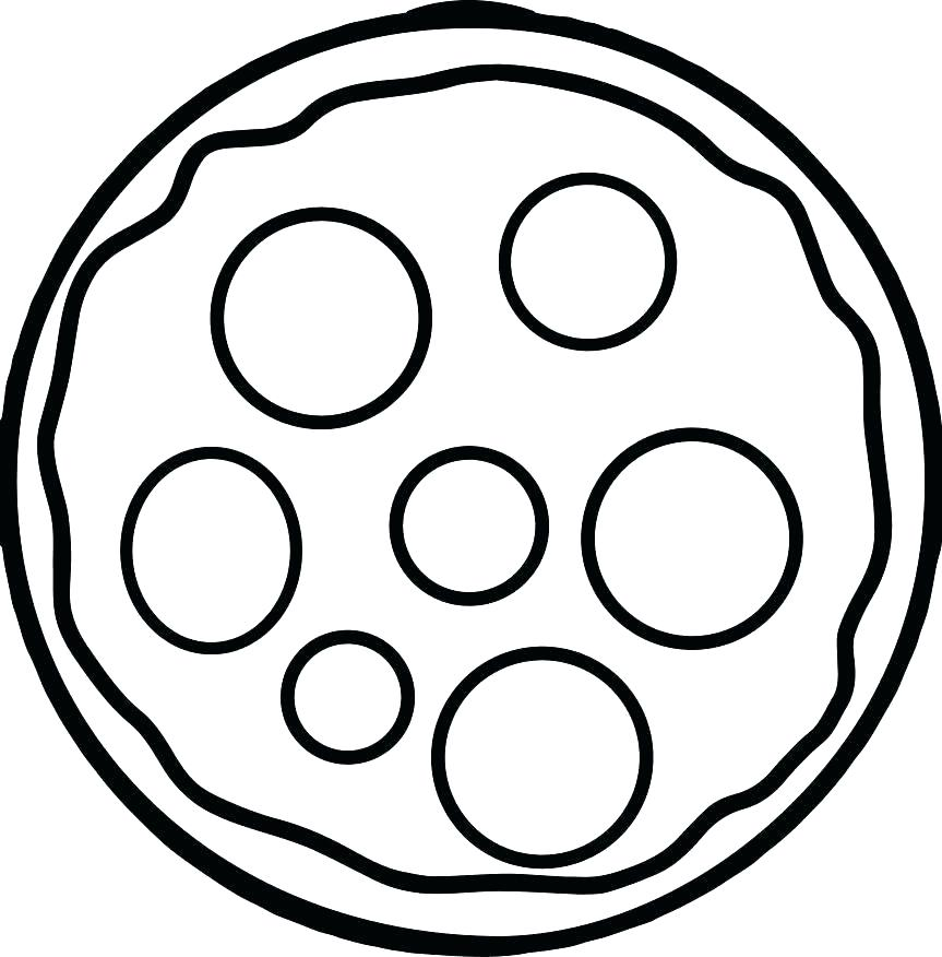 863x876 Simple Coloring Page Basic Coloring Pages Pizza Coloring Picture