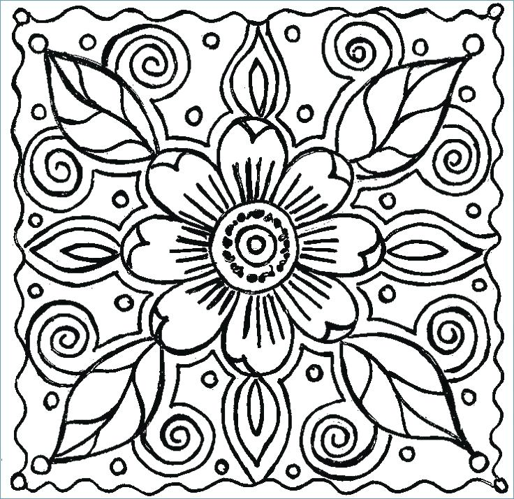 736x714 Simple Flower Colouring Pages Printable Coloring Basic Coloring