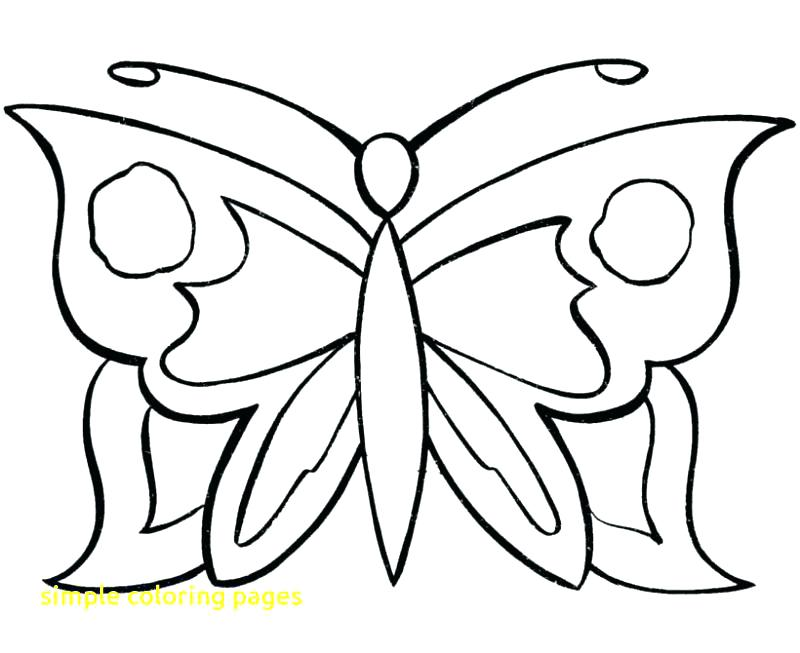 800x653 Free Simple Coloring Pages Free Coloring Pages Butterfly Free