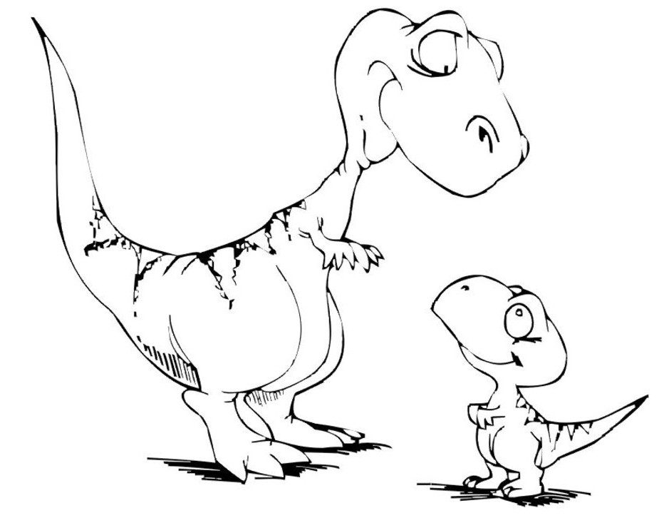 939x726 Simple Dinosaur Coloring Pages Free Dinosaur Coloring Pages