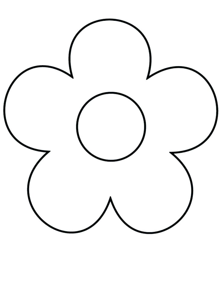 736x981 Easy Flower Coloring Pages Easy Flower Coloring Pages Coloring