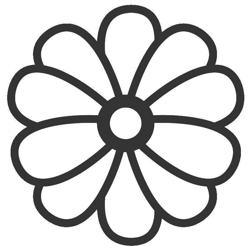 800x800 Flower Coloring Pages