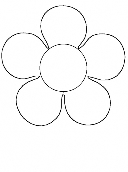412x550 Simple Flower Coloring Pages