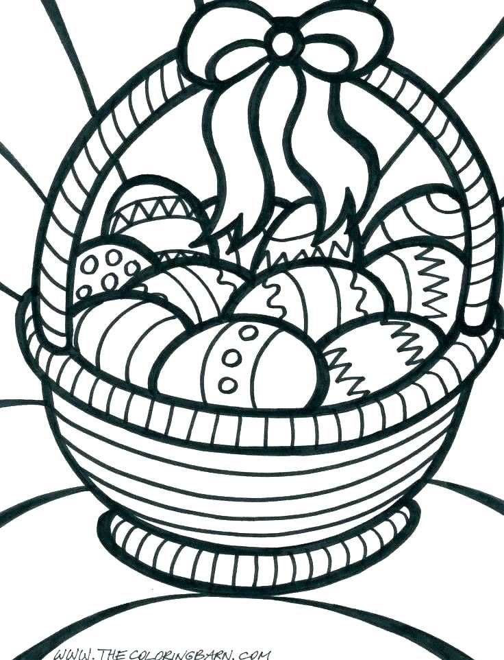 736x962 Basket Coloring Pages Printable
