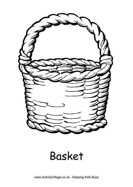 460x650 Basket Colouring Page