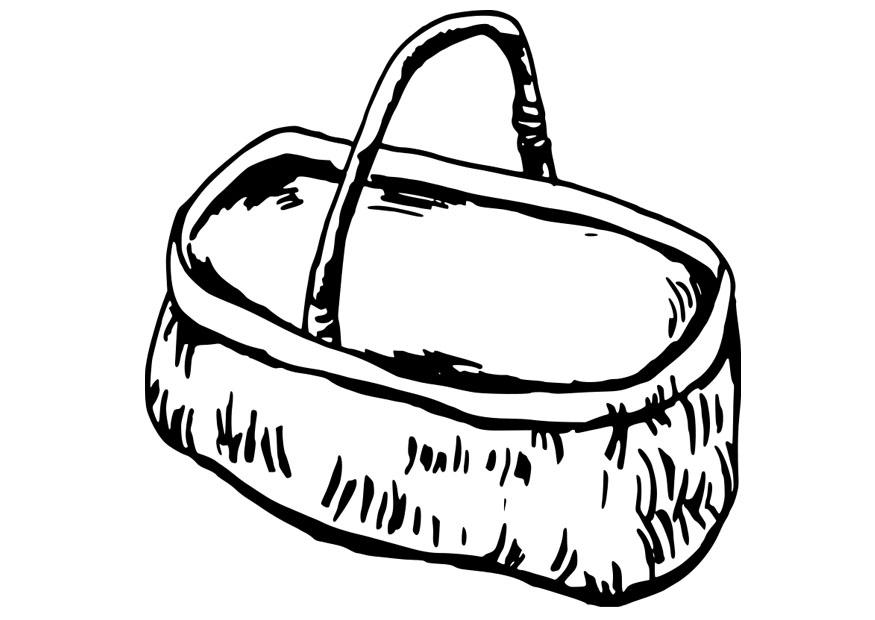 875x620 Coloring Page Basket