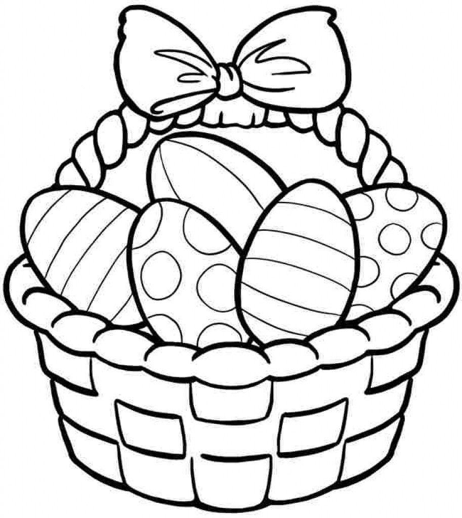 913x1024 Easter Basket Coloring Page Discover